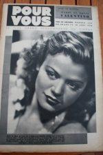 1938 Simone Simon Rudolph Valentino Phyllis Brooks