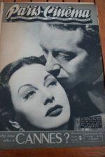 1946 Vintage Magazine Hedy Lamarr Paul Henreid