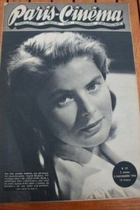 1946 Vintage Magazine Ingrid Bergman