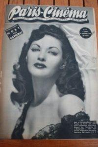 1947 Vintage Magazine Yvonne De Carlo Daniel Gelin