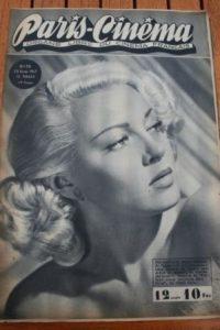 1947 Vintage Magazine Lana Turner Simone Simon