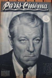 1947 Vintage Magazine Jean Gabin