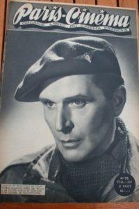 1947 Vintage Magazine Pierre Blanchar Gary Cooper