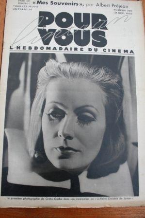 1933 Greta Garbo Albert Prejean Michel Simon