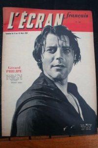 1952 Vintage Magazine Gerard Philipe Anne Vernon