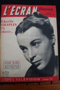 1952 Claire Bloom Lucia Bose Jean Gabin Charles Chaplin