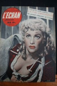 1950 Martine Carol Gerard Philipe Jacques Tati