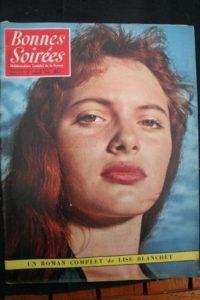 1957 Vintage Magazine Silvana Mangano Catherine Sauvage