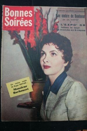 1958 Vintage Magazine Gina Lollobrigida Sacha Guitry