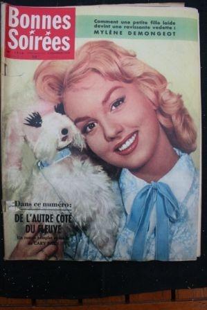 1958 Vintage Magazine Mylene Demongeot