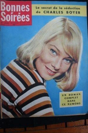 1958 Vintage Magazine May Britt Charles Boyer