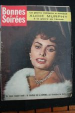 1958 Vintage Magazine Sophia Loren Audie Murphy