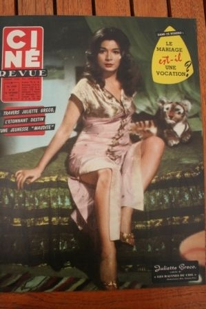 58 Juliette Greco Belinda Lee Liz Taylor Ruth Leuwerick
