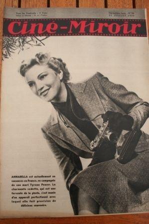 1939 Annabella Zarah Leander Lana Turner Luise Rainer