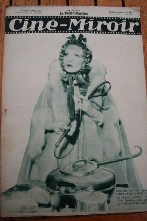 1934 Marlene Dietrich Leni Riefenstahl Gaby Morlay