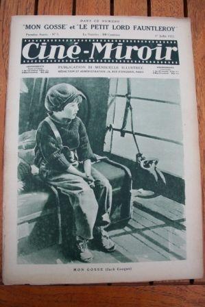 1922 My Boy Jackie Coogan Mary Pickford Lord Fauntleroy