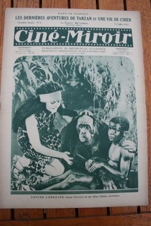 1922 Adventures of Tarzan Elmo Lincoln Charles Chaplin