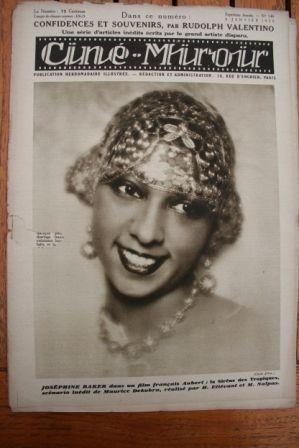 28 Josephine Baker Esther Ralston Tramel Emil Jannings
