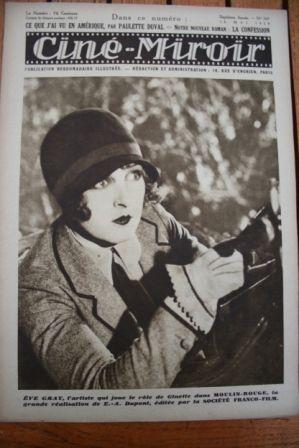 1928 Olga Tschechowa Moulin Rouge George Bancroft