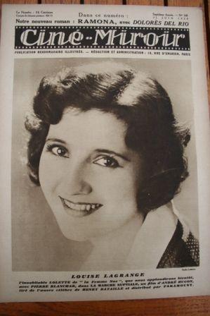 1928 Louise Lagrange Dolores del Rio Lillian Gish