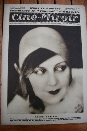 1928 Renee Heribel Werner Krauss Rudolph Valentino