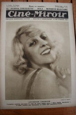 1928 Lucienne Legrand Clara Bow Glenn Tryon Lon Chaney