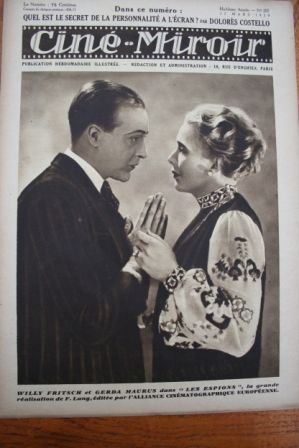 1929 Willy Fritsch Rudolf Klein-Rogge Livio Pavanelli