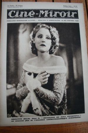1929 Brigitte Helm Francis Lederer Anna May Wong