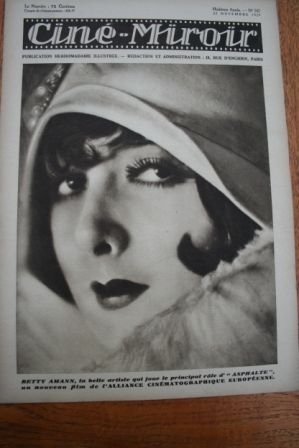 1929 Betty Amann Asphalt Anna May Wong Renee Heribel