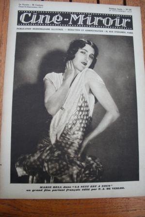 29 Marie Bell George Bancroft Bebe Daniels Vilma Banky