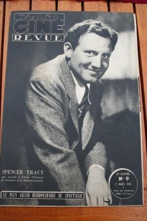 1945 Vintage Magazine Spencer Tracy