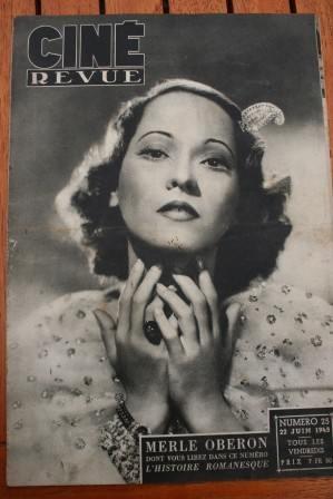 1945 Vintage Magazine Merle Oberon