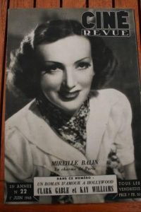 Mireille Balin Clark Gable Orson Welles Sessue Hayakawa