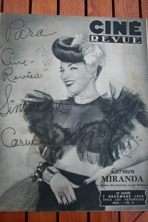 1945 Carmen Miranda Erich Von Stroheim Susan Hayward