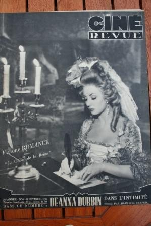 1946 Walter Pidgeon Ginger Rogers Deanna Durbin Romance