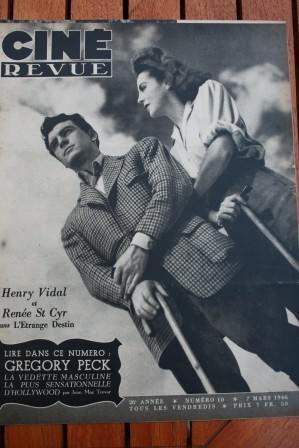 46 Renee Saint Cyr Gregory Peck Anna Neagle Jean Gabin