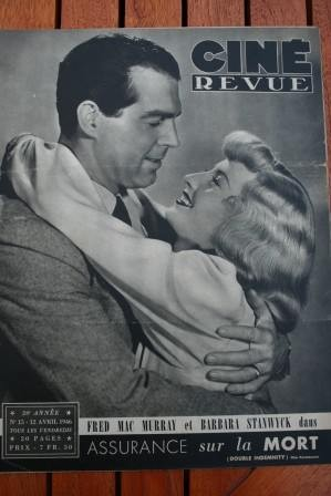 46 Fred Mac Murray Errol Flynn Ann Miller Joan Crawford