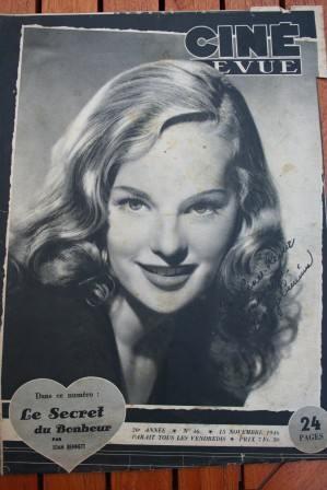 1946 Peggy Cummins Marlene Dietrich Tyrone Power Rooney