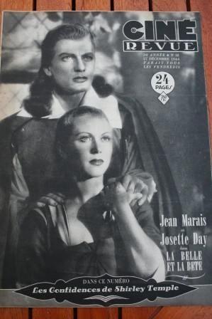 1946 Jean Marais Shirley Temple Sylvia Sidney Fantasia