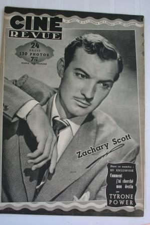 Zachary Scott Tyrone Power Merle Oberon Lizabeth Scott