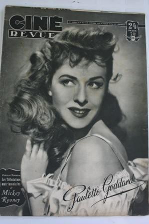 Paulette Goddard Mickey Rooney Bebe Daniels Hedy Lamarr