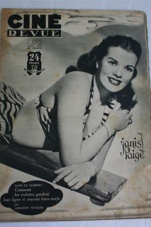 1947 Janis Paige Susan Hayward Myrna Loy Sally Gray