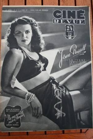 47 Jane Russell Orson Welles Claudette Colbert Vickers