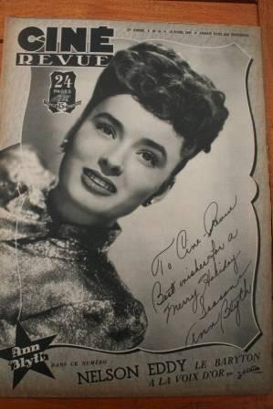 1947 Ann Blyth Nelson Eddy Dane Clark Deanna Durbin