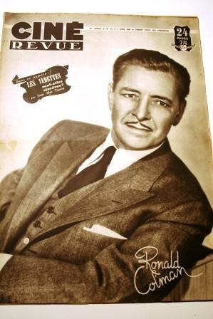 1948 Ronald Colman Humphrey Bogart Robert Mitchum Haver