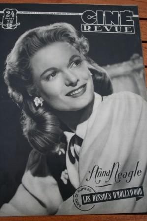 1948 Anna Neagle Shirley Temple Errol Flynn Myrna Loy