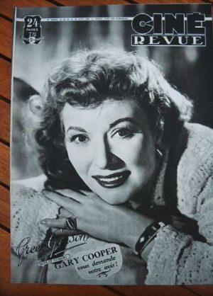 1949 Greer Garson Rex Harrison Gary Cooper Cary Grant
