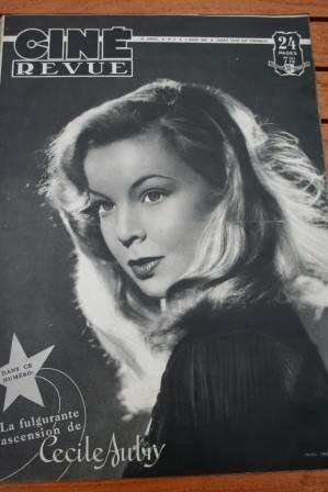 1949 Cecile Aubry Ann Sheridan Errol Flynn Bing Crosby