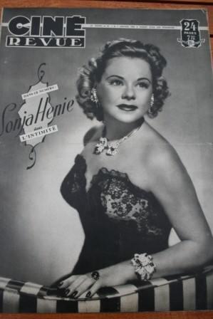 Sonja Henie Widmark Maurice Chevalier Simone Signoret