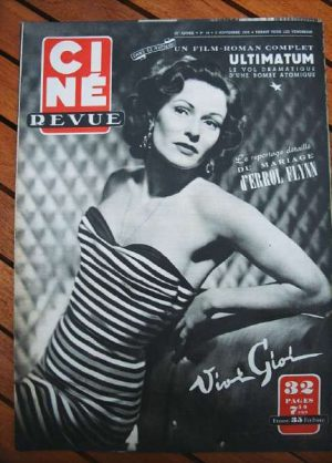 1950 Vivi Gioi Errol Flynn Iwo Jima Betty Hutton Orphee